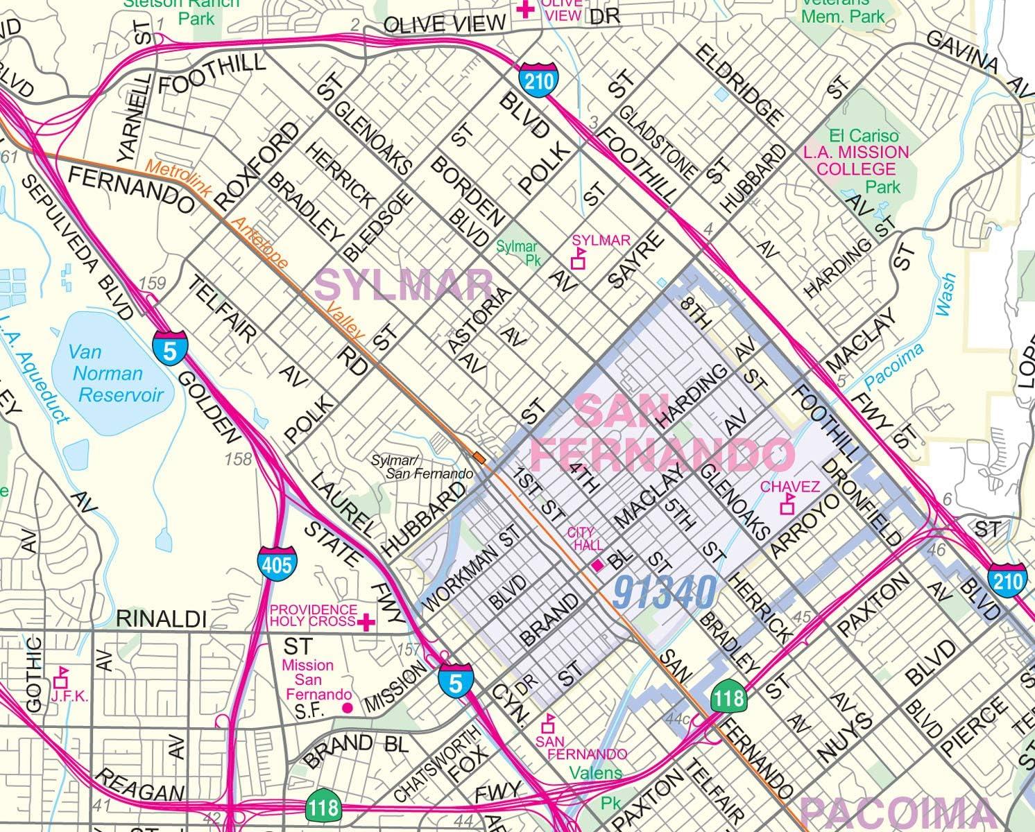 Amazon.com  San Fernando Valley North Los Angeles Detailed ...