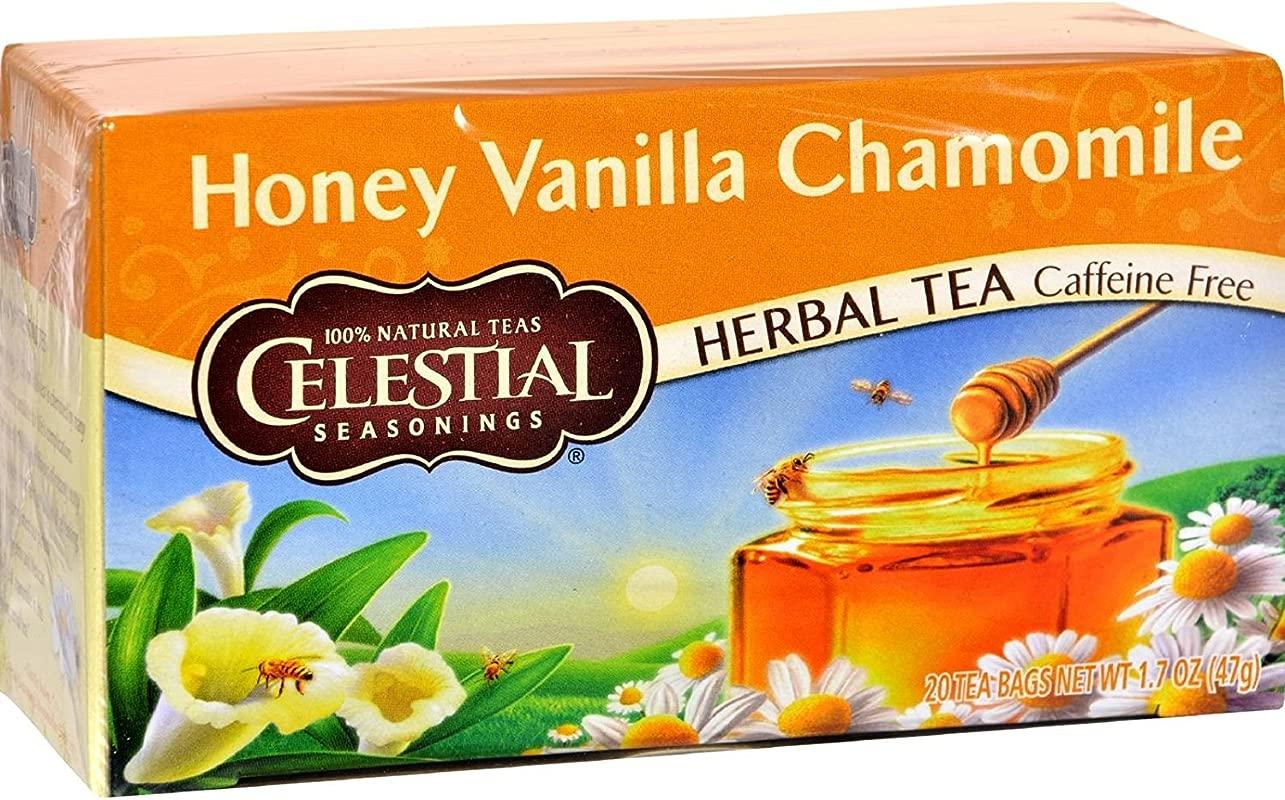 Celestial Seasonings 63496 3pack Celestial Seasonings Honey Vanilla Chamomile Herb Tea 3x20 Bag