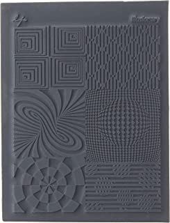 Great Create Rubber Lisa Pavelka Individual Texture Stamp 4.25-inch x 5.5-inch, Illusionary