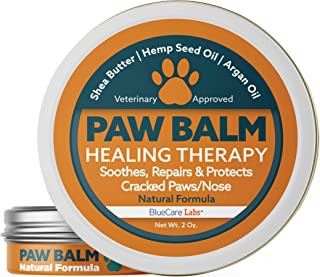Natural Organic Paw and Nose Balm Wax for Dogs Paw Cream Moisturiser for Dog Pads Paw Protection for Cracked Paws Repairs and Heals Paw Pads Dry Chapped Paw Care with Vitamin E & Aloe Made in the USA