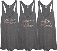 It's Your Day Clothing Rose Gold Bridal Party Tri-Blend Women's Heather Gray Racerback Tank Top
