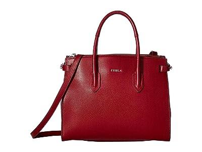 Furla Pin Small Tote East/West (Ciliegia) Tote Handbags