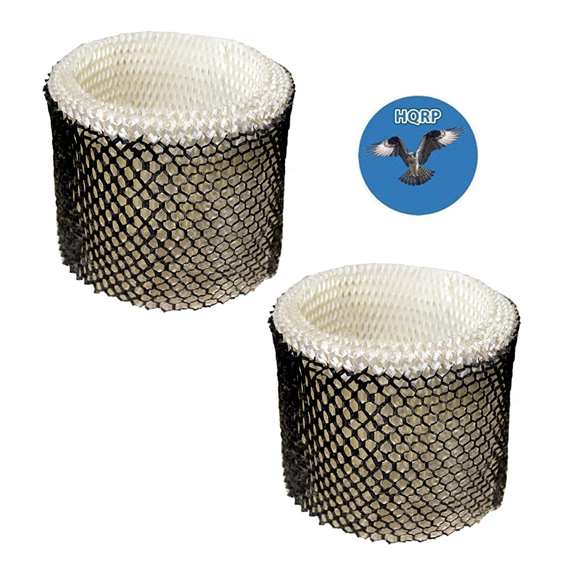 HQRP 2-Pack Wick Filter for Duracraft D88 DH888 DH890 DH890C DCM200 HCM890 DCM891B DCM891S Humidifier, AC-888 HC-888 Replacement Coaster
