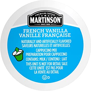 Martinson Single Serve Coffee Capsules, French Vanilla Cappuccino, Compatible with Keurig K-Cup Brewers, 24 Count