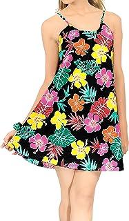 LA LEELA Uomini del Collare Punto Camicia Hawaiana Maniche Corte Floreale più Tasca Frontale