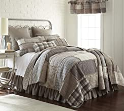 King Quilt - Smoky Cobblestone by Donna Sharp - Contemporary Quilt with Patchwork Pattern - Machine Washable