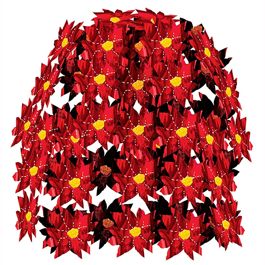 Poinsettia Cascade Party Accessory (1 count) (1/Pkg)