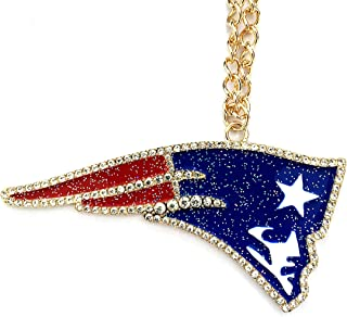 Football Diamonds Plus Necklace Pendant Jewelry Fashion Gifts for Men Women 14K Gold Plated