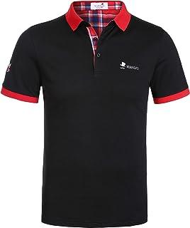 Marojo Men's Polo Shirts Short Sleeve Slim Fit Summer T-Shirt Piqué Polo Shirts