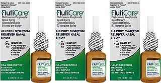 FlutiCare® 120 Metered Nasal Sprays (3 Pack), Fluticasone Propionate 50mcg, Relief During Allergy Season from Pollen, Dust...