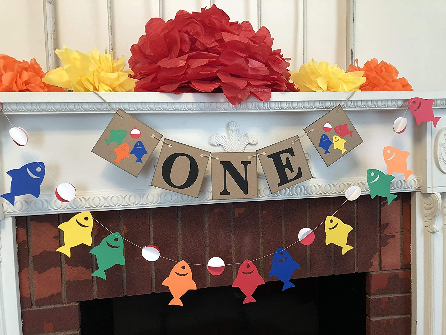 I am One Banner - Gone Fishing Raleigh Mall birthday cake Smash 1st photo pro Albuquerque Mall