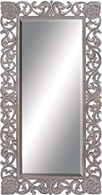 """Deco 79 Wood Carved Mirror, 36 by 72"""""""