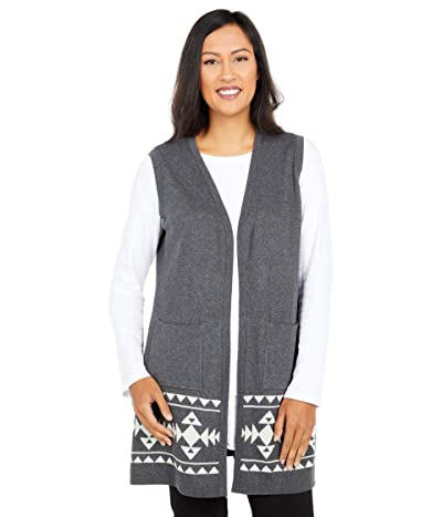 Scully Evelyn Indian Headress Long Sweater Vest (Charcoal) Women