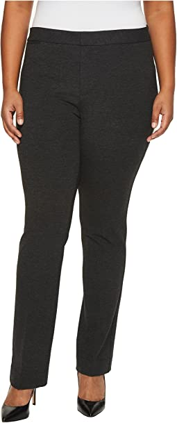 NYDJ Plus Size - Plus Size Ponte Trousers in Heathered Charcoal