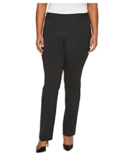 Plus Size Ponte Trousers in Heathered Charcoal