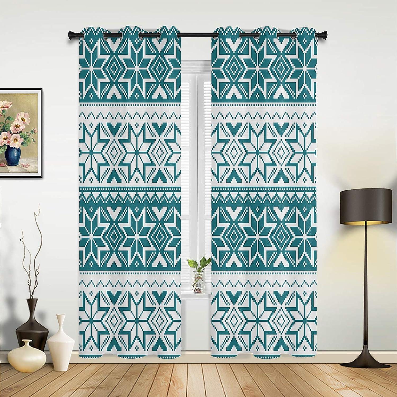 Sale price Christmas Room Darkening Grommet Window Bedroom 2 of Selling rankings Set Panels