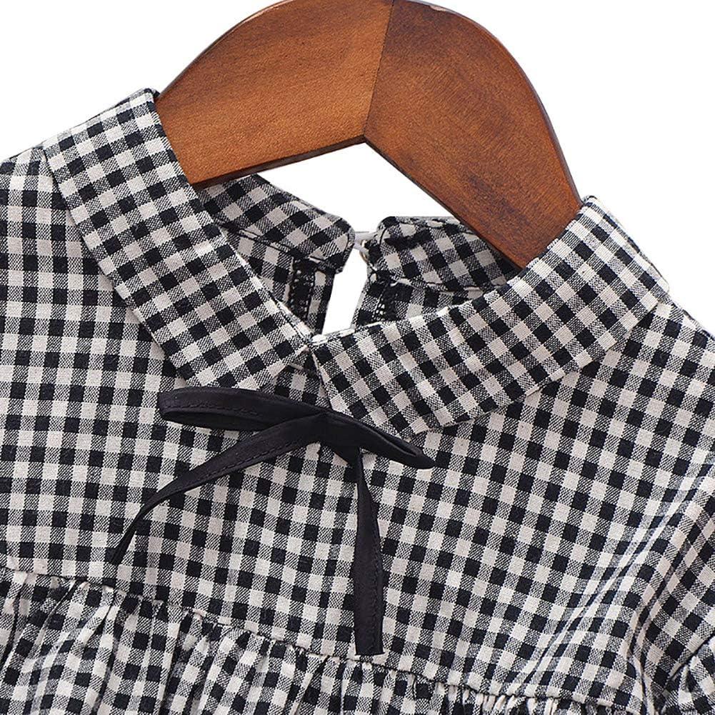 Gyratedream Fille V/êtement Ensembles Plaid Chemise Tops Manches Longues Leggings Pantalon 2Pcs Outfit pour 0-4 Ans B/éb/é