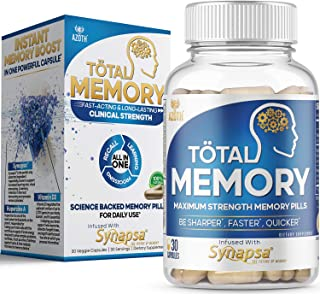 AZOTH Total Memory Supplement for Brain - Extra Strength Memory Pills to Boost Recall, Cognition, Focus, Mental Clarity - ...