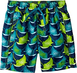 Hatley Kids - Friendly Manta Rays Swim Trunks (Toddler/Little Kids/Big Kids)