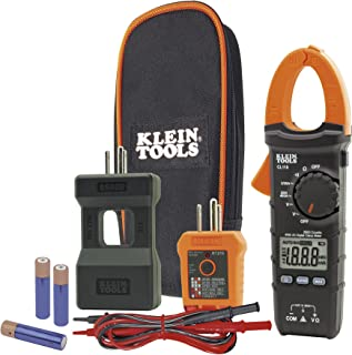 Klein Tools CL110KIT Electrical Maintenance and Test Kit for AC/DC Voltage, Resistance and Continuity, Includes Case, Leads and Batteries (Renewed)