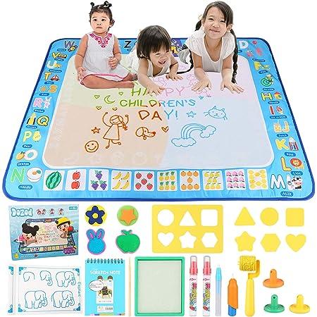 Dozod お絵かきシート 水おえかき おもちゃ 水で描く 清潔安全 知育おもちゃ 特大 人気 お絵かき 子供 誕生日 プレゼント 日本語バッケージ