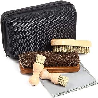 [FOOTSTEPS] 靴磨き ブラシ セット 馬毛ブラシ 豚毛ブラシ ペネトレイトブラシ セット クリーニングクロス収納ケース付