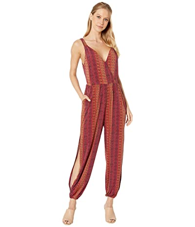 BCBGeneration Folklore Stripes Surplice Jumpsuit (Multi) Women