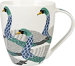 Queens Couture Fine China Swans Mug, Multi-Color