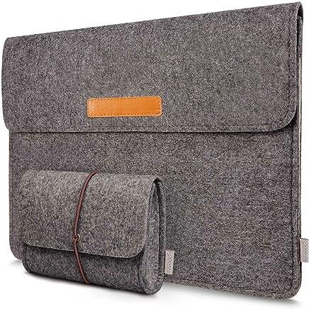 Inateck 13,3 Zoll Hülle kompatibel mit MacBook Air Pro Retina12,9 Zoll iPad Pro Laptop-Tasche Dunkelgrau
