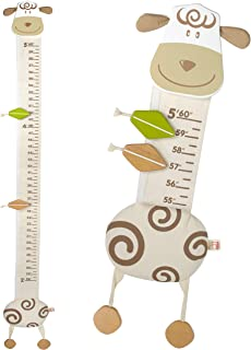 I`m Wood and Fabric Wall Growth Chart, Height Measurement, Scale, Ruler for Kids (Sheep)