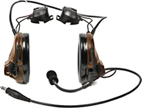 3M PELTOR COMTAC 93483-case III ACH Communication Headset, Single COMM, Accessory Rail Connector, Coyote Brown MT17H682P3AD-47 CY