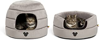 Disney Mickey Mouse 2-in-1 Honeycomb Hut Cuddler in Mickey Bobble (Dog Bed / Cat Bed)