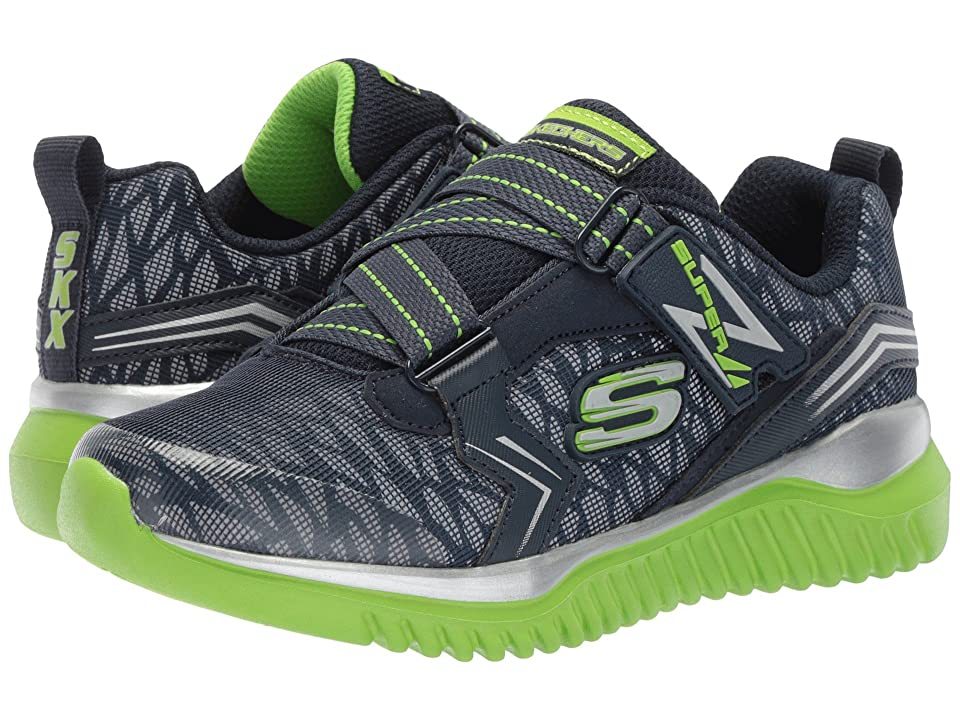 SKECHERS KIDS Turboshift (Little Kid/Big Kid) (Navy/Lime) Boy