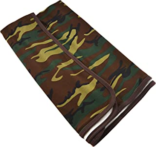 OPTCO Baby Receiving Blankets. Camouflage Prints.100% Knitted Cotton. 29x35 inches.Brown Trims.