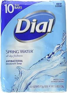 Dial Spring Water Antibacterial Deodorant Soap 10-4 oz Bars