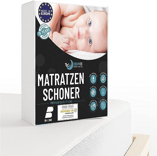 Dreamzie – Matratzenschoner 60 x 120 cm Wasserdicht für Babybetten – Atmungsaktive Matratzenauflagen 100% Baumwolle – Matratzen Topper…