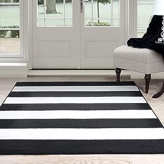 Lavish Home Breton Stripe Area Rug, 5' by 7'7