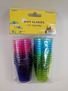 Plastic Shot Glasses Multicolored Disposable Shot Glasses 1 oz Party Shot Glasses 24-pack Tasting Cups