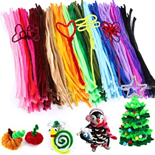 300pcs Pipe Cleaners Bulk Chenille Stem Craft Supplies Fuzzy Sticks Arts and Crafts for Girls Kids Craft Wire as Educational Toys for DTY School Art Craft Projects by JamBer, 30 Assorted Colors