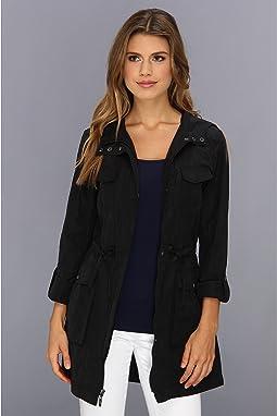 Packable 4 Pocket Zip Up Jacket With Hood