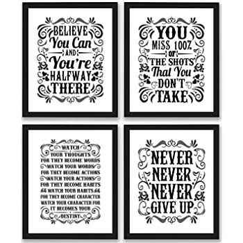 Motivational inspirational quote positive life poster picture print wall art 368