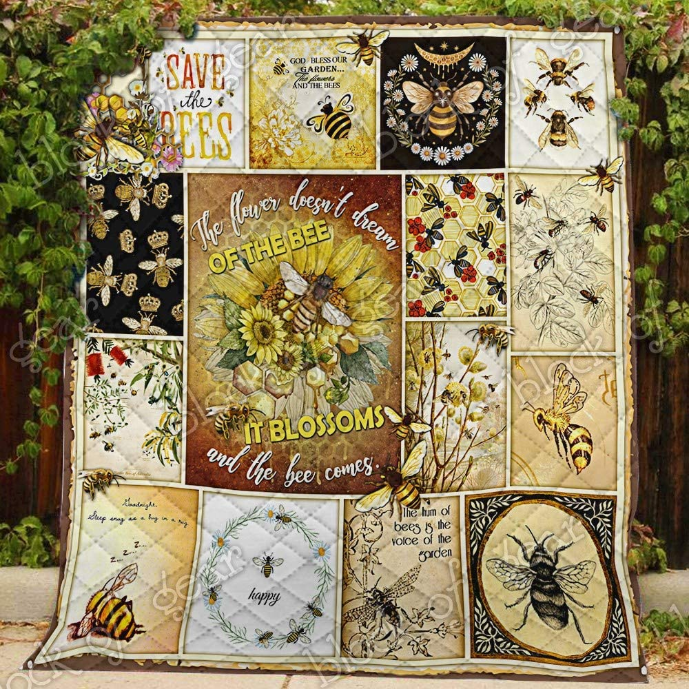 The Flower Blossoms and Bee Queen PN659 All-Sea Denver Mall Quilt Comes Save money