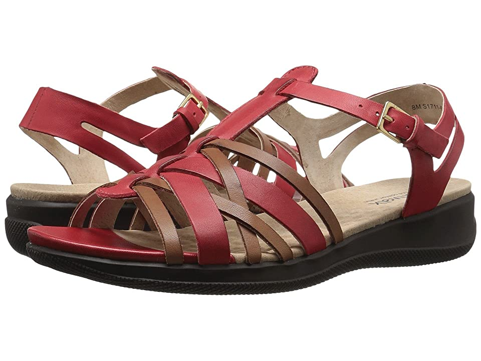 SoftWalk Taft (Red/Tan) Women