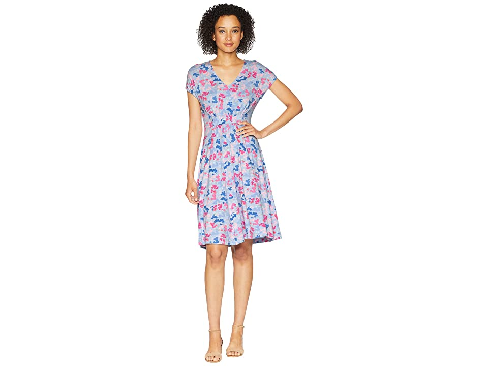 Joules Finola Jersey Dress with Elasticated Waist (Sky Blue Ditsy) Women