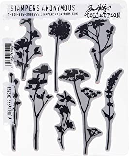 طوابع لاصقة Tim Holtz مقاس 17.78 سم × 21.59 سم - زهور برية (عبوة من قطعة واحدة)