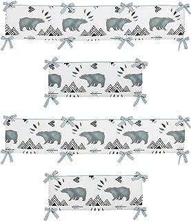 Sweet Jojo Designs Baby Crib Bumper Pad for Bear Mountain Watercolor Collection