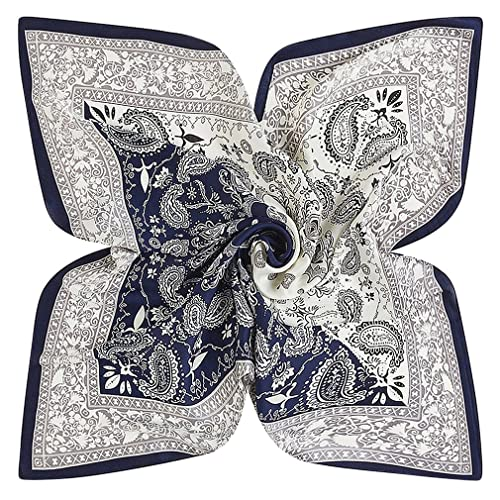 DAMILY Femmes Mode Paisley Bandana Foulard Grand Satiné Carré Foulards  Cheveux Tête Echarpes Châle 4b6aa0a1033