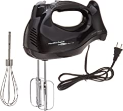 Hamilton Beach 6-Speed Electric Hand Mixer with Snap-On Case, Beaters, Whisk, Black (62692),