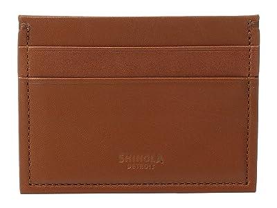 Shinola Detroit Five-Pocket Card Case (Bourbon) Wallet Handbags
