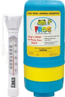 King Technology Inground Pool Frog Replacement Mineral Reservoir Bundled with Floating Buoy Üben Pool Thermometer